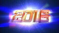 New Year 2016 Countdown Animation Stock Footage