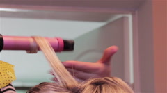 hairstyle make styler - stock footage