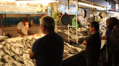 Fresh fish and seafood Stock Footage