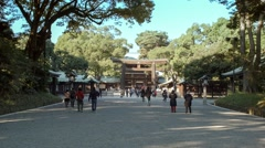 Stock Video Footage of Meiji Temple in Tokyo