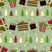 Retro Christmas Gift boxes Stock Illustration