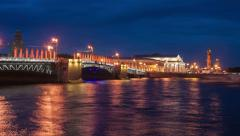 Palace bridge in Saint Petersburg - stock footage