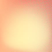 Halftone background. Red and yellow color square shape banner Stock Illustration