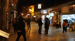 Independencia street in Puno Stock Footage