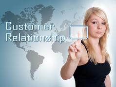 Customer Relationship - stock illustration