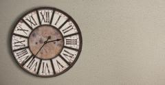 Old fashioned clock on the wall, timelapse 12H  Stock Footage