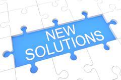New Solutions Stock Illustration