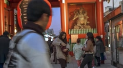 Asakusa Temple Kaminarimon Gate Stock Footage