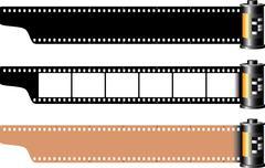 Celluloid film frames - stock illustration