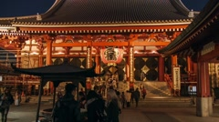 Asakusa Temple Kaminarimon Gate Stock Footage