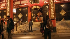 Stock Video Footage of Asakusa Temple Kaminarimon Gate