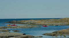 Stockholm archipelago - kayaking Stock Footage