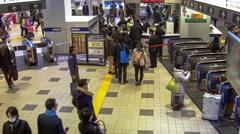 Shinjuku Station Keio Line Gate Stock Footage