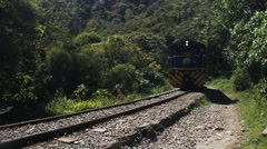 Peru Rail train Stock Footage