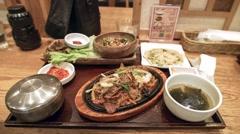 Korean Food in Tokyo Stock Footage
