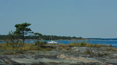 Stockholm archipelago, sailing Stock Footage