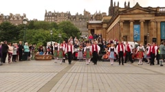 Traditional German Folk Dance Stock Footage