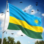 Flag of Rwanda Stock Illustration