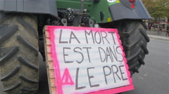 French Farmers Protest Stock Footage