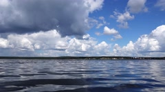 Water surface with reflection of clouds Stock Footage