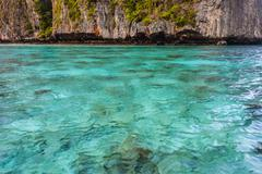 Azure shallow waters - stock photo
