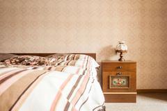 Retro bedroom Stock Photos