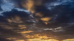 Stock Photo of Sunset sky with clouds