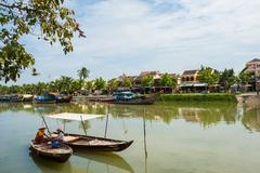 Thu Bon River, Hoi An, Vietnam Stock Photos