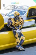Bumblebee character - stock photo