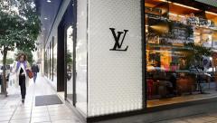 Louis Vuitton Luxury Store Stock Footage