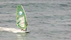 Windsurfing jibe turn Stock Footage