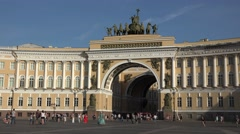 The General Staff Building & Arch (in 4k), Palace Square, St Petersburg, Russia. Stock Footage