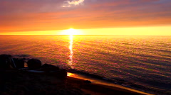 American Great Lakes Sunset - stock footage