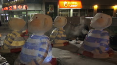 2015 Scotiabank Nuit Blanche Toronto, 10th Edition Stock Footage