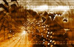 Telecommunications Technology Stock Illustration