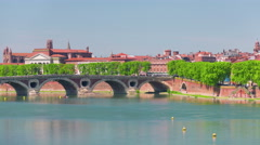 View on Toulouse in a summer day Stock Footage