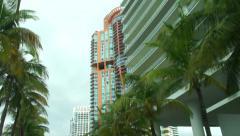 Miami Growing Real Estate 2015 Portofino Highrises Stock Footage