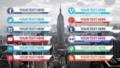 Clean Social Media Lower Thirds Pack - stock after effects