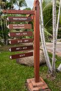 signboard on the beach at hotel, Koh Samui, Thailand - stock photo