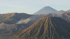 Stock Video Footage of Steaming Bromo volcano at sunrise,Bromo,Java,Indonesia