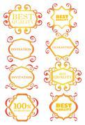 Calligraphic design border, decoration and element Stock Illustration