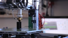 Stock Video Footage of Three dimensional printer 3D printing during work in science laboratory, 3D p