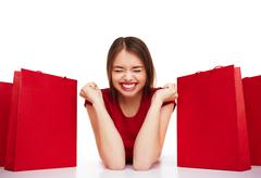 Yes to shopping - stock photo