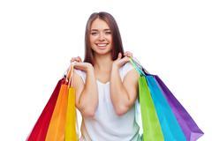 Satisfied consumer Stock Photos