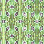 Primitive simple  green retro pattern Stock Illustration
