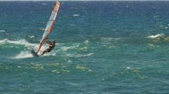 Windsurfing on maui Stock Footage