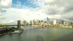 Time-lapse view of downtown Manhattan in New York - stock footage