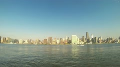 Time-lapse view of mid-town Manhattan and East River in New York Stock Footage