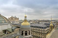 Opera House(Palais Garnier) with roofs of Paris Stock Photos