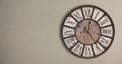 Old fashioned clock on the wall, timelapse 12H  - stock footage